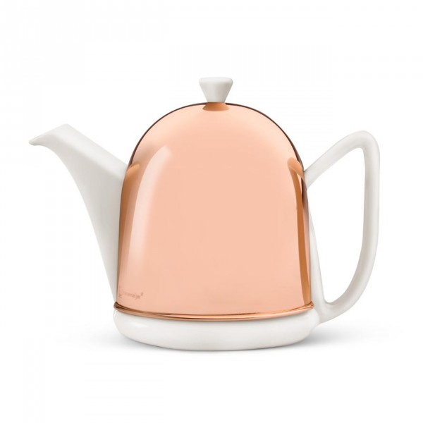 Teekanne Cosy Manto 1,0L weiß Kupfer-Mantel