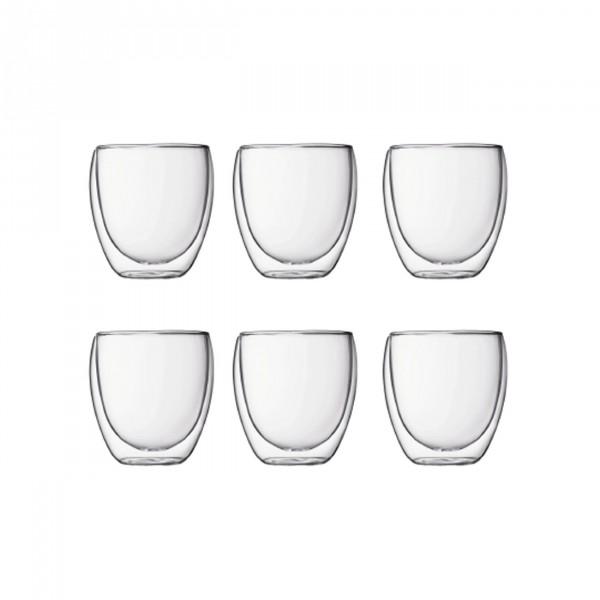 Glas Pavina doppelwandig 0,25 L 6er Set