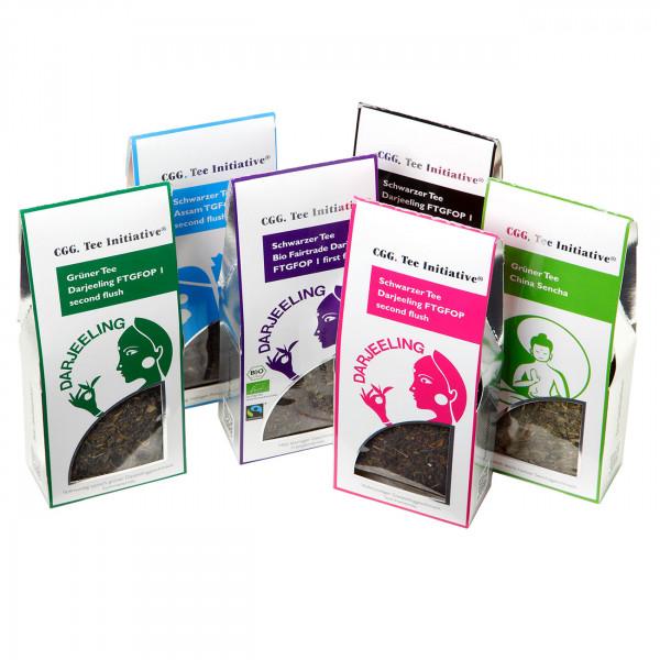 6 verschiedene Tee Initiative - Packungen á 90 g