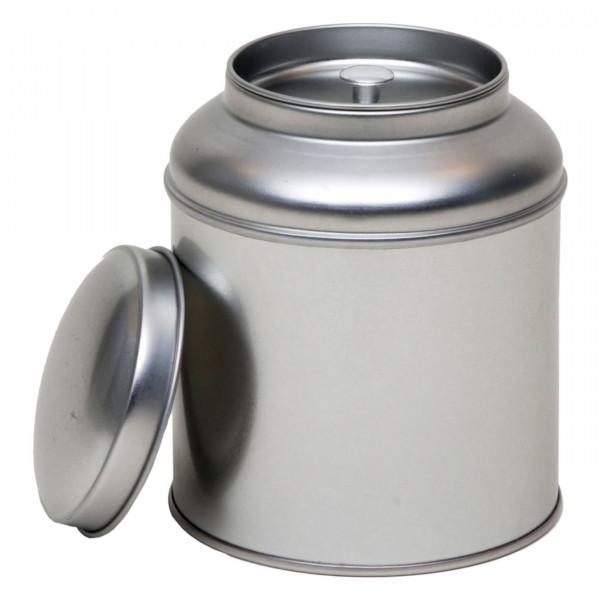 Teedose rund silber Ø 90 mm x 115mm