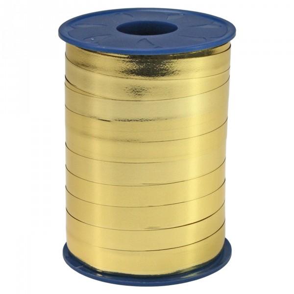 Schleifenband gold metallisiert 10 mm