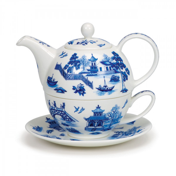 Tea for One Oriental Blue