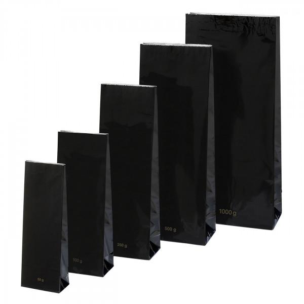 Blockbeutel, schwarz 250 g
