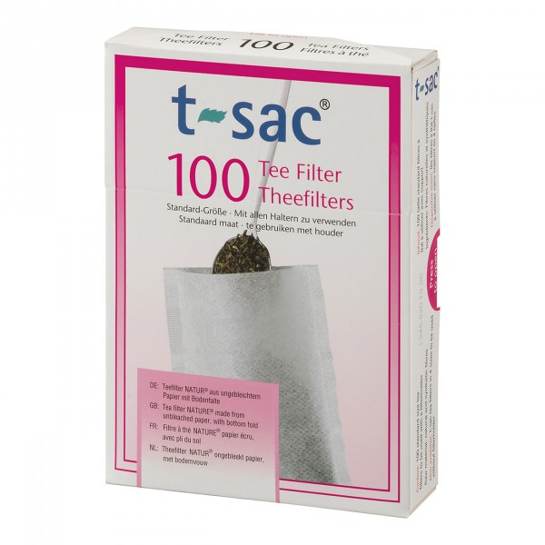 Tea Filter t-sac® 100 With Bottom Fold, size 0, Nature, 210-pac