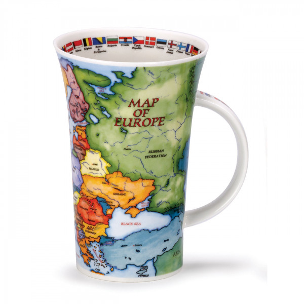 Glencoe Map of Europe Mug
