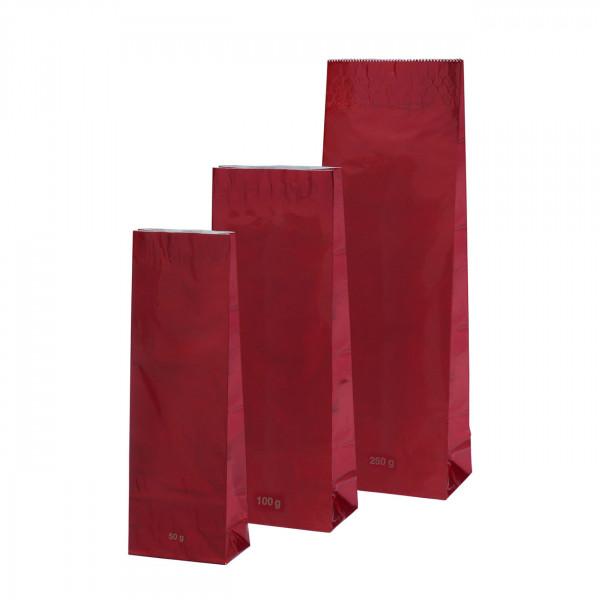 Blockbeutel, rot 250 g