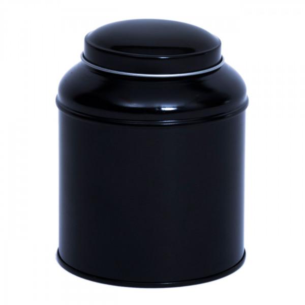 Teedose rund schwarz Ø 90 mm x 115mm