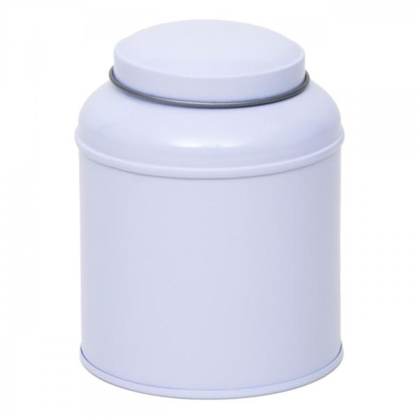 Teedose rund weiß Ø 90 mm x 115mm