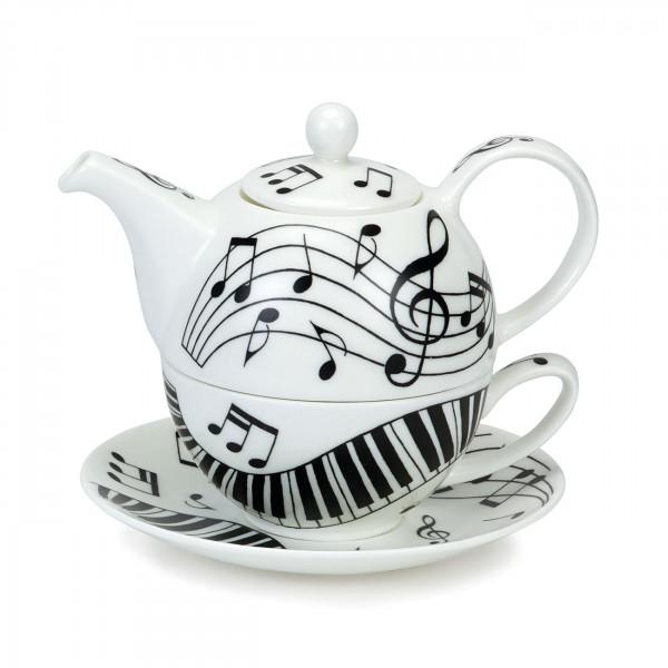 Tea for One Ebony and Ivory