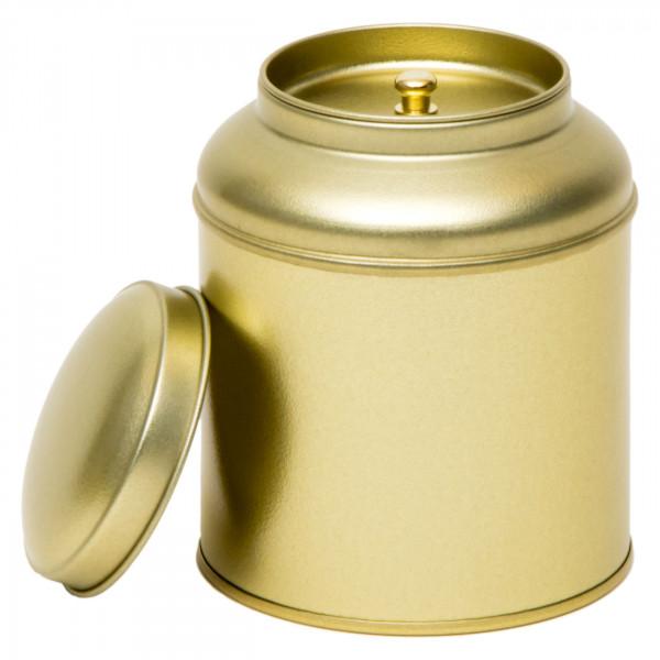 Teedose rund goldfarben Ø 90 mm x 115 mm