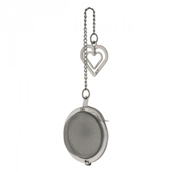 Tea Ball With Heart Clip