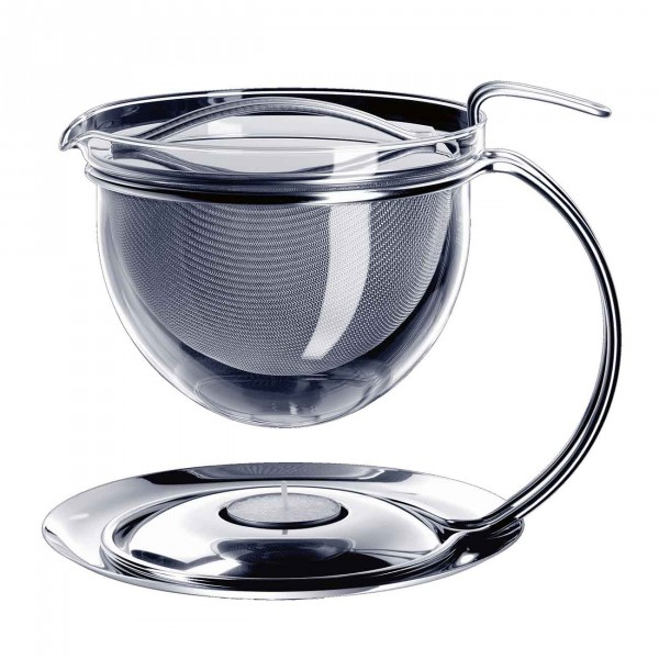 Mono Tea Jug With Round Handle And Integrated Trivet