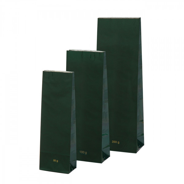 Blockbeutel, grün 250 g