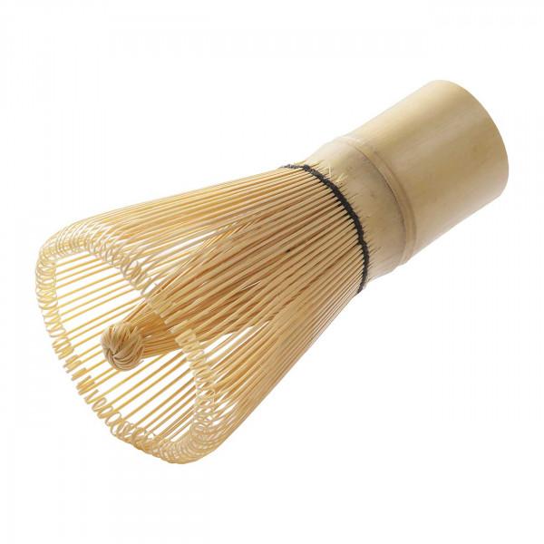 """Matchabesen """"Chasen"""" 120 Borsten weißer Bambus"""
