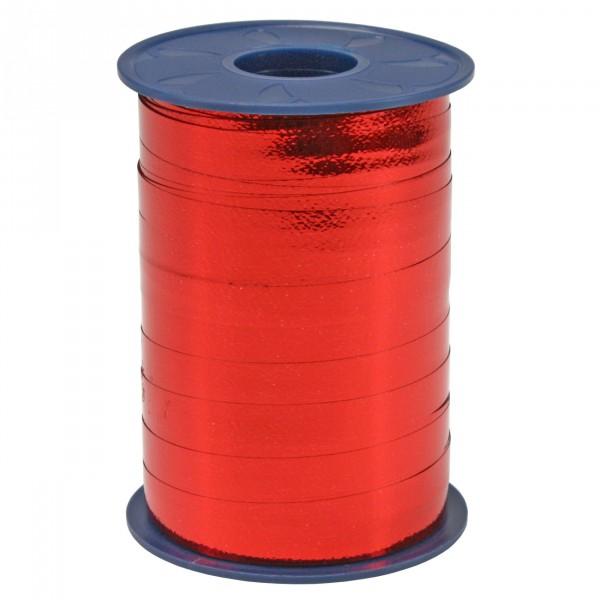 Schleifenband rot metallisiert 10 mm