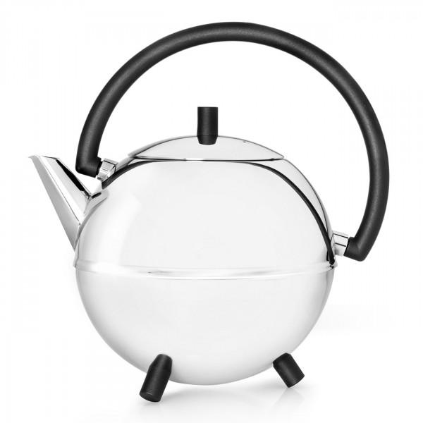 Teekanne Saturn, schw. Beschläge 1,2 L